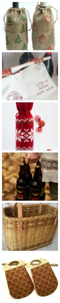 beer and wine collage