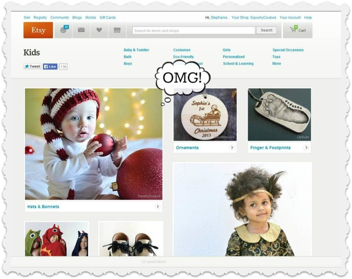 Etsy browse feature