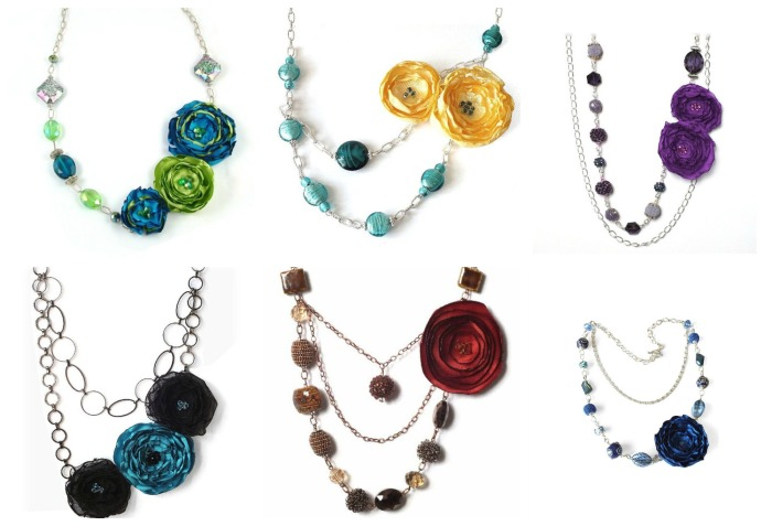 statement necklace Collage